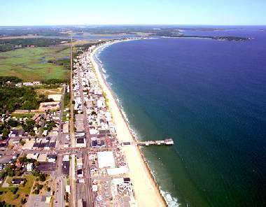 Arial view of Old Orchard Beach
